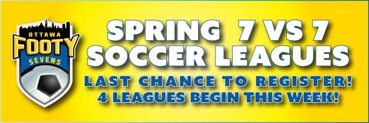Spring 7v7 Soccer Leagues